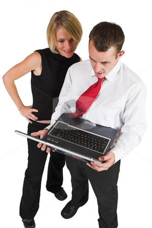 Heidi & Tollie Booysen #3 stock photo, Two business partners, working on laptop by Sean Nel