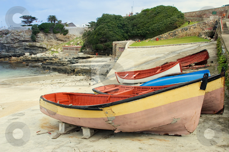 Harbour #3 stock photo, Derelict boats on Hermanus Harbour, South Africa by Sean Nel