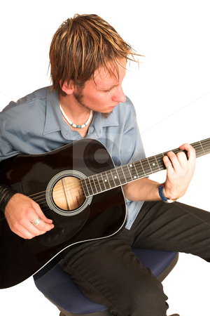 David Badenhorst #7 stock photo, Young man with guitar. by Sean Nel