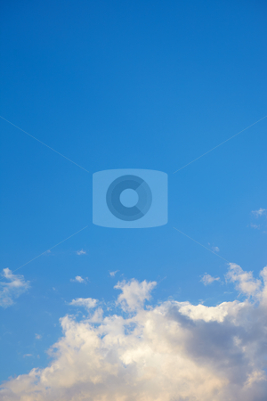 Beautiful sky background stock photo, Beautiful sky background with cumulus clouds by Sean Nel