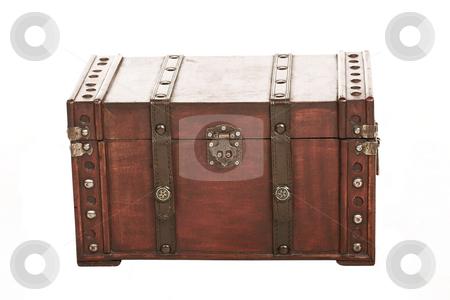 Suitcase#004 stock photo, Open treasure case on white background by Sean Nel