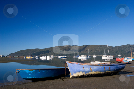 Boat #2 stock photo, Two boats next to the water - Knysna Harbour, South Africa by Sean Nel