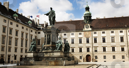 Statues infront of building in Vienna stock photo, Statues infront of building in Vienna, Austria by Sean Nel