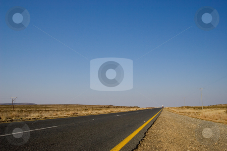 Cape roads #3 stock photo, Desolate road just outside Colesberg, South Africa by Sean Nel