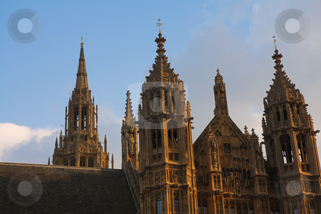 Westminster #8 stock photo, The buildings of the House of Parliament - sunset by Sean Nel