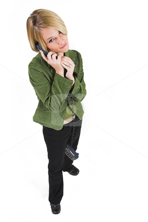 Business Lady #3 stock photo, Blonde Business woman on the phone by Sean Nel