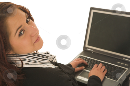 Ecommerce #04 stock photo, Woman on notebook computer by Sean Nel