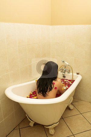 Woman #109 stock photo, Nude woman in a bath. by Sean Nel