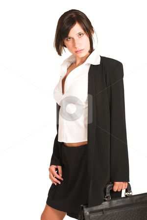 Business Woman #270 stock photo, Business woman dressed in a pencil skirt and jacket. by Sean Nel