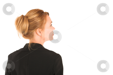 Businesswoman #230 stock photo, Blonde business lady in formal black suit. by Sean Nel