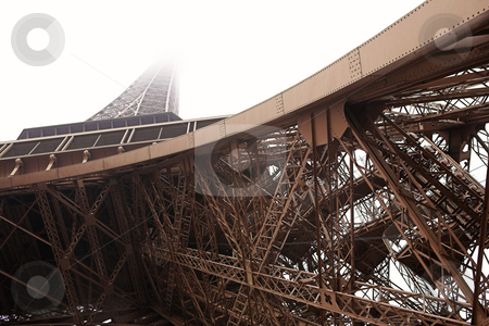 Paris #14 stock photo, The Eiffel Tower in Paris, France.  Copy space. by Sean Nel