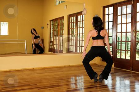 Dancer #9 stock photo, A Female Dancer practicing in her studio by Sean Nel
