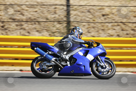 Superbike #62 stock photo, High speed Superbike on the circuit  by Sean Nel