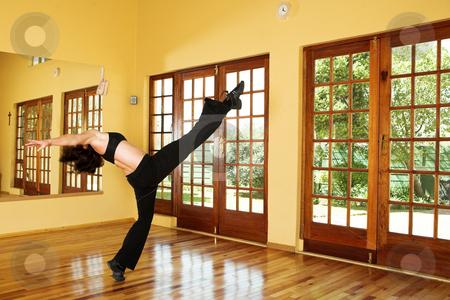 Dancer #24 stock photo, A Female Dancer practicing in her studio by Sean Nel