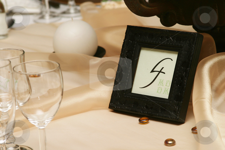 Number four stock photo, Table number four by Sean Nel