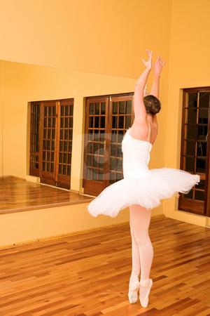 Ballerina #24 stock photo, Ballerina dancing infront of a mirror by Sean Nel