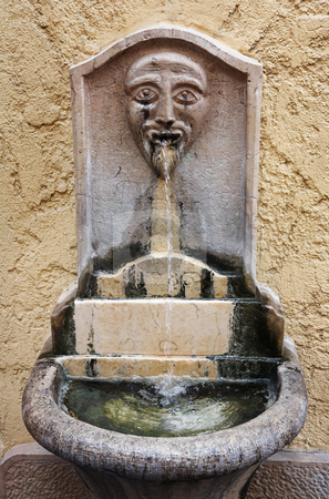 Cannes #16 stock photo, Old ornate public drinking fountain in Cannes, France by Sean Nel