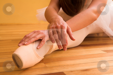 Ballerina #19 stock photo, Lady doing ballet in dance studio. Shallow DOF, focus on hands by Sean Nel