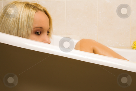 Woman #160 stock photo, Nude woman in a bath. by Sean Nel