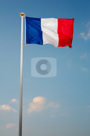 Cannes #55 stock photo, Waving French Flag by Sean Nel