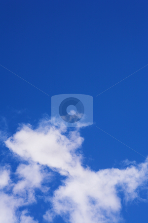 Blue Sky and Clouds #4 stock photo, Blue sky and white puffy clouds - For use as fill in backgrounds in designs and photo retouching by Sean Nel