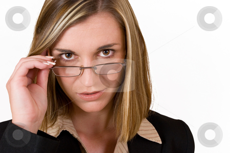 Felicity Calitz #6 stock photo, Business woman holding reading glasses by Sean Nel