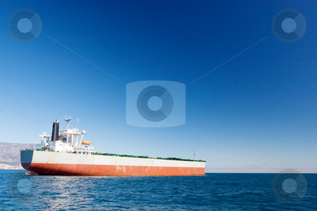 Ship #5 stock photo, White and red oil tanker by Sean Nel