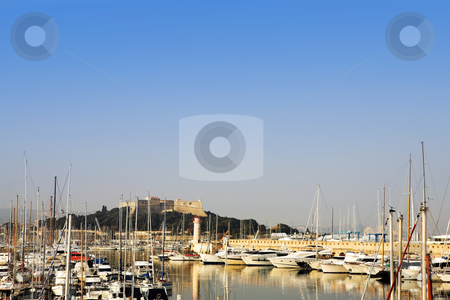 Antibes #275 stock photo, A harbor  in Antibes, France.    Copy space. by Sean Nel
