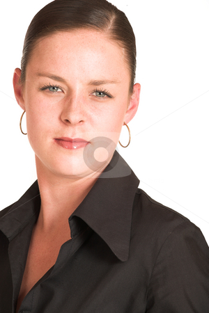 Charmaine Shoultz #5 stock photo, Business woman dressed in a black shirt. by Sean Nel