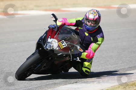 Superbike #53 stock photo, High speed Superbike on the circuit  by Sean Nel