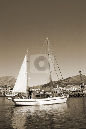 Yacht #4 stock photo, Boats at Cape Town Harbour, South Africa by Sean Nel