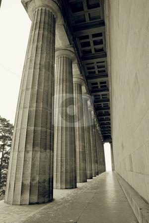 Regensburg09 stock photo, Pillars in Regensburg, sepia by Sean Nel