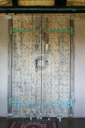 Moroccan door stock photo, Old weathered hand made door by Sean Nel