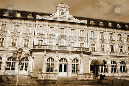 Building in Regensburg stock photo, Tall building in Regensburg, Germany during a sunny day in winter. Sepia color by Sean Nel