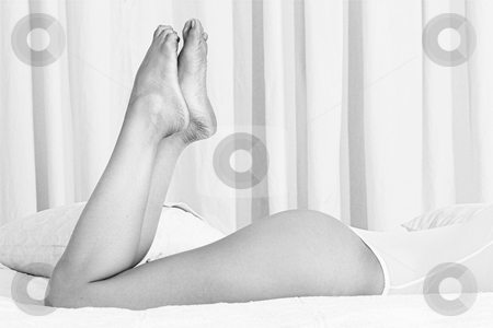 Feet and bottom #1 stock photo, Womans feet and bottom by Sean Nel