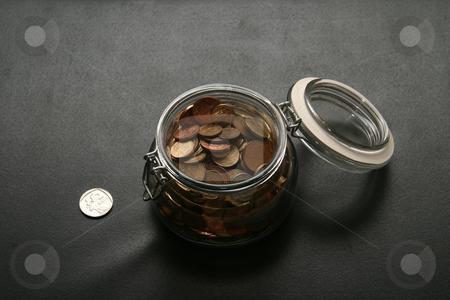 Bottle bank #5 stock photo, Money in a bottle by Sean Nel