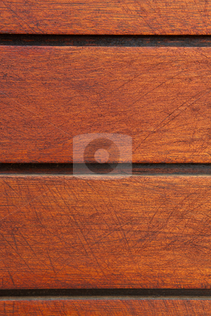 Striped wooden background stock photo, Brown wooden plank background with stripes by Sean Nel