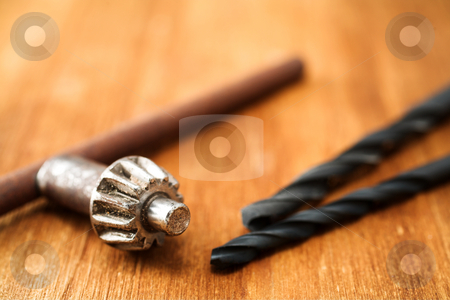 Tools#001 stock photo, Tools on wooden table by Sean Nel