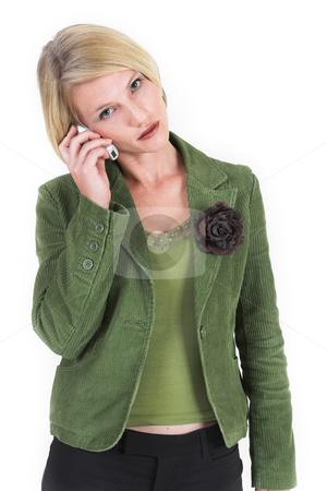 Business Lady #2 stock photo, Woman on mobile phone by Sean Nel