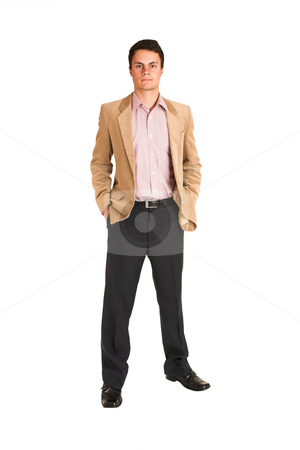 Businessman #120 stock photo, Businessman standing with hands in his pockets by Sean Nel