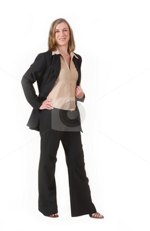 Business Lady #119 stock photo, Business woman in black suit by Sean Nel