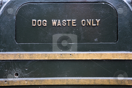 Dog waste only sign stock photo, Dog waste bin. by Sean Nel