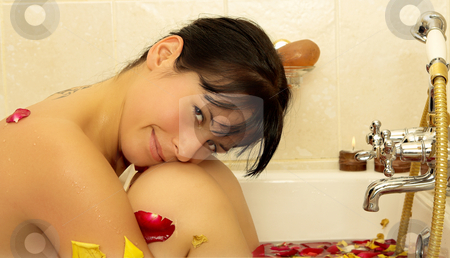 Woman #85 stock photo, Nude woman in a bath. by Sean Nel