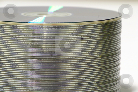DVD Stack stock photo, Stack of DVD's by Sean Nel