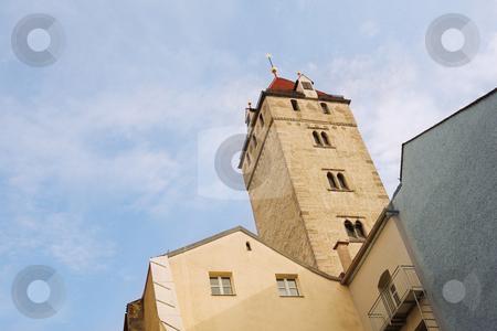 Straubing #3 stock photo, Straubing skyline from Theresienplatz by Sean Nel