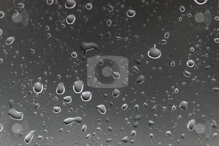 Waterdrops #4 stock photo, Waterdrops on a window - Digital artwork by Sean Nel