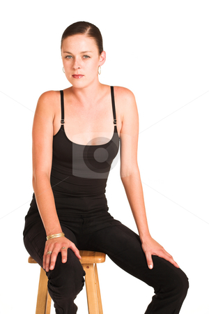Charmaine Shoultz #44 stock photo, Business woman dressed in black top. by Sean Nel
