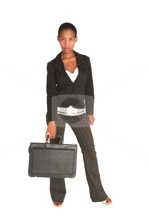 Mida Matsimela #1 stock photo, African business woman dressed in black jacket. by Sean Nel
