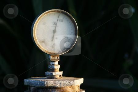 Water presure  stock photo, Water pressure gauge by Sean Nel