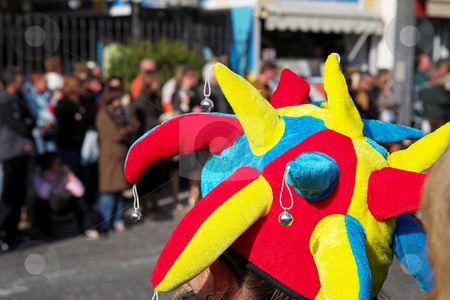 Menton #21 stock photo, Spectator on the Citrus parade in Menton, France by Sean Nel
